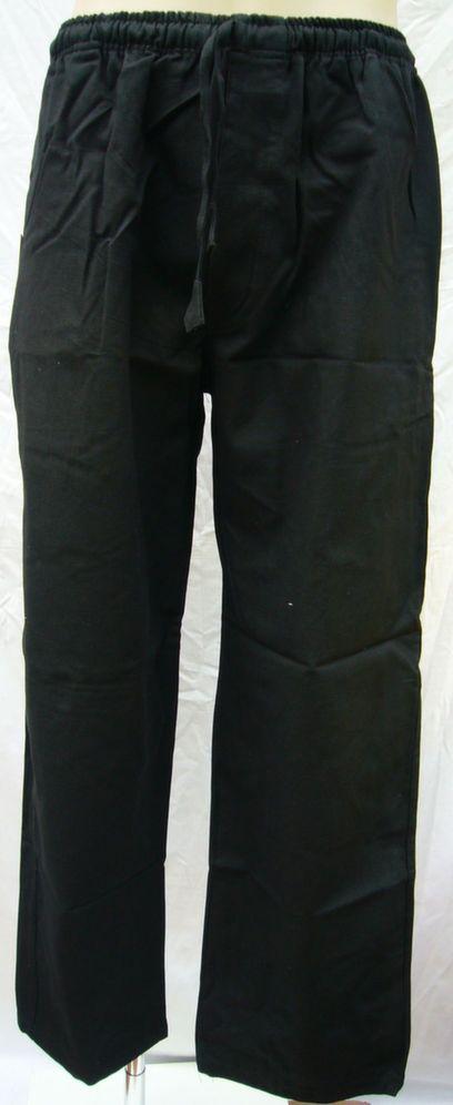 Heavyweight Cotton Stretch Waist Pants Black