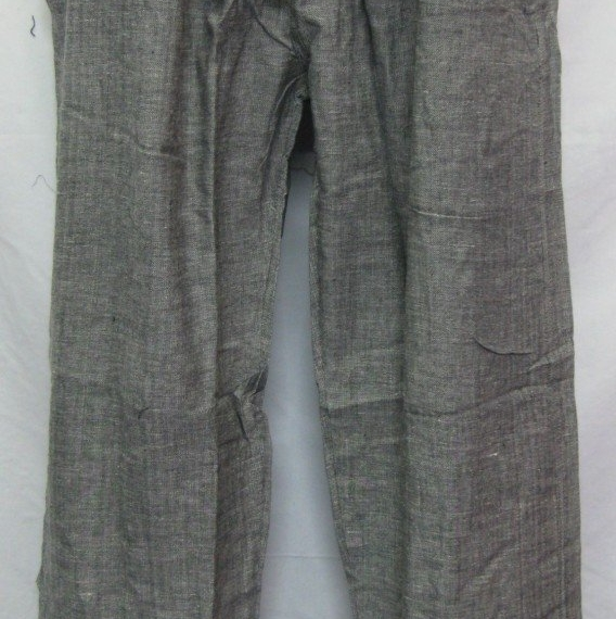 Cotton Stretch Waist Pants Grey