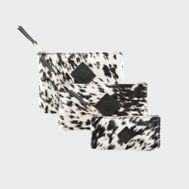 Exotic Cowhide Purse Set