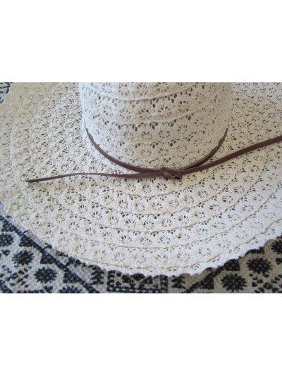 Crochet Cotton Hat Cream