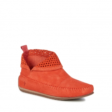 Emu Suede Ghostgum Boots - Burnt Red
