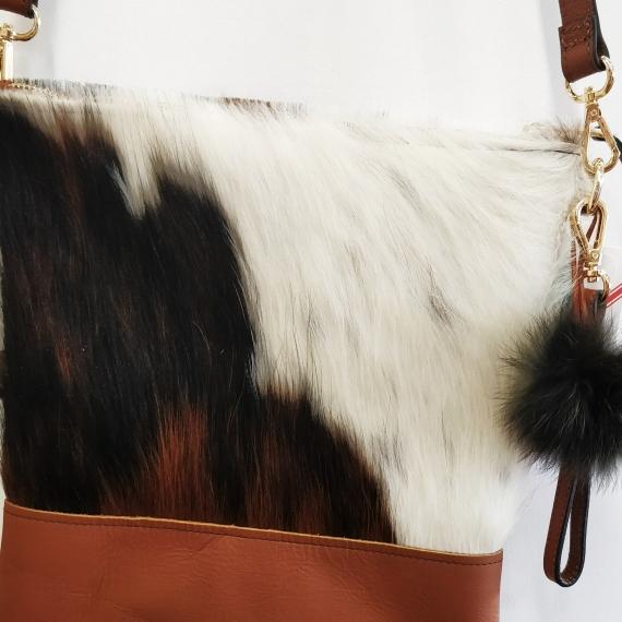 Exotic Cowhide Tricolour Handbag