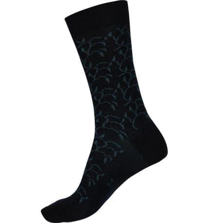 Fine merino Patterned Health Socks Large