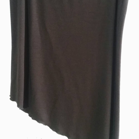 Hedrena asymmetrical merino wool skirt choc