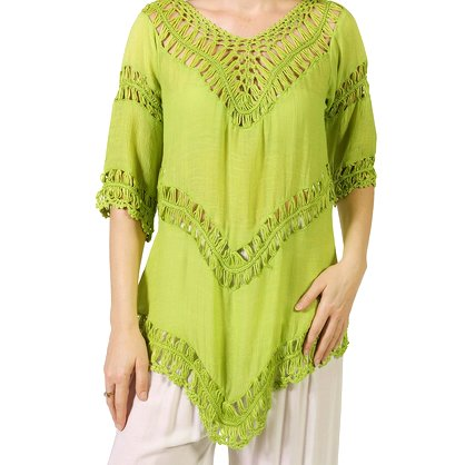 Lace Lime Cotton Top