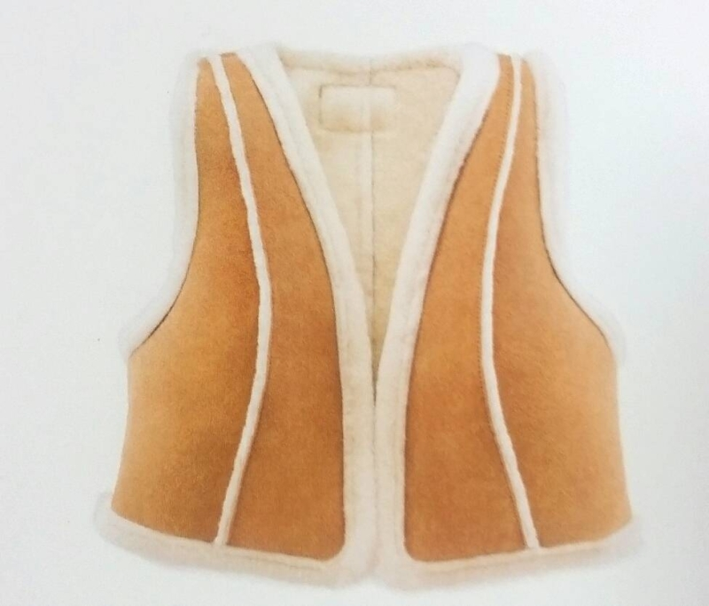 Ugg Australia Ladies sheepskin vest cropped