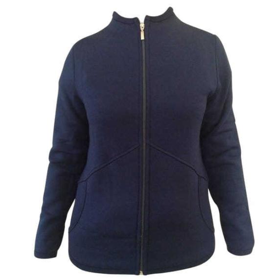 Merino Fleece Thick Zip Jacket Navy