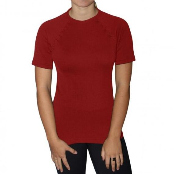 Merino Mid 195gsm Tee Red