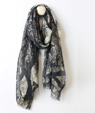 Merino Wool Margate Print Scarf
