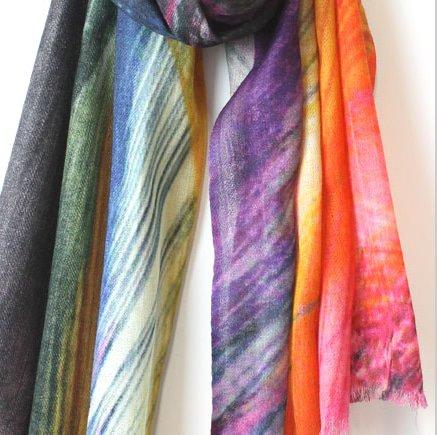 Merino Wool Morpeth Print Scarf