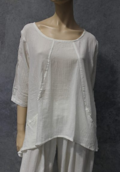 Naturals Curve Panel Top White