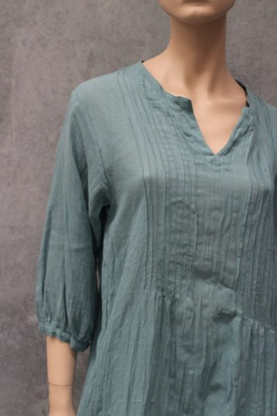 Naturals Pin Pleat Tunic Top Teal