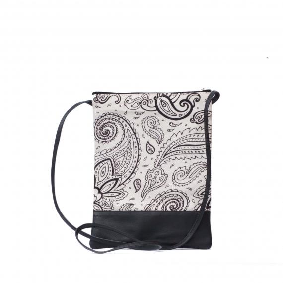 Paisley White Leather Bag