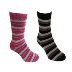 Possum Merino stripe socks