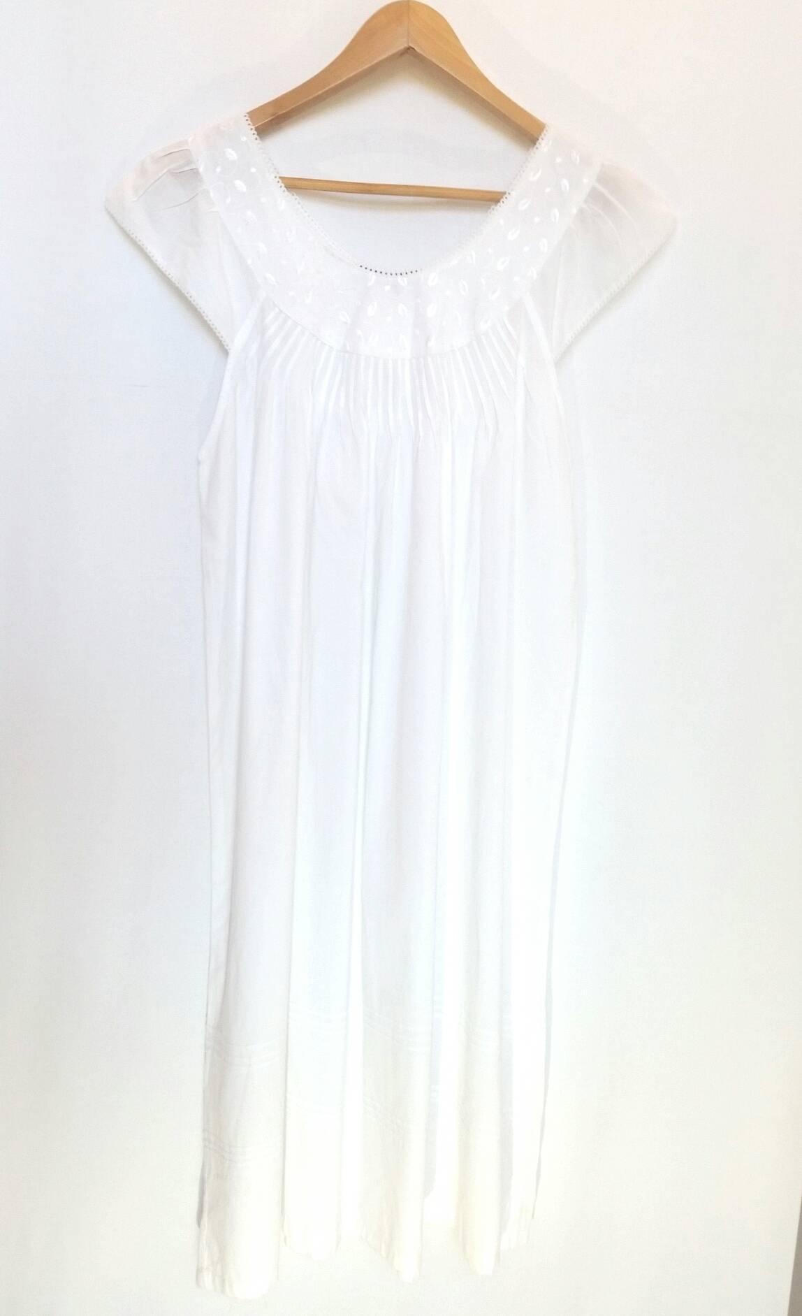 Pure Cotton Embroidered Nightie