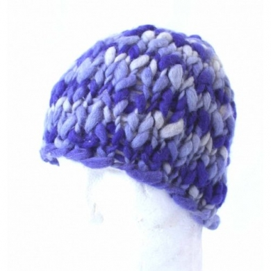Pure Wool Beanie Purple