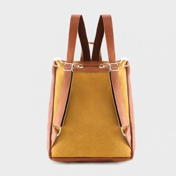 Sheepskin Drawstring Backpack