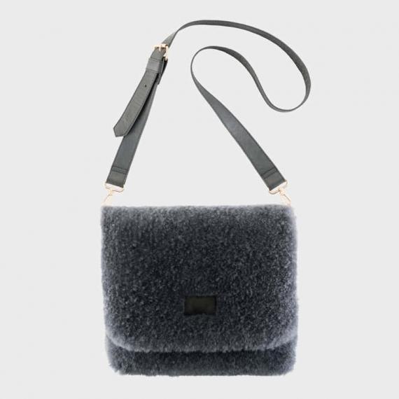Sheepskin Rochelle Bag Charcoal Large