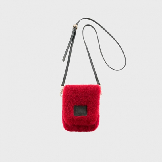 Sheepskin Rochelle Bag Ruby Small