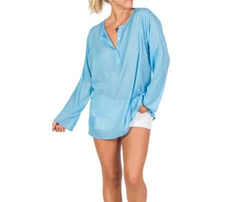 Sorento Blue Cotton Top