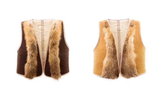 29f37c9a23e Ugg Australia Sheepskin Fox Cropped Vest
