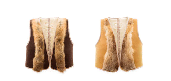 Ugg Australia Sheepskin Fox Cropped Vest