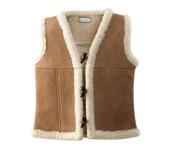 Wild Goose Sheepskin Toggle Vest