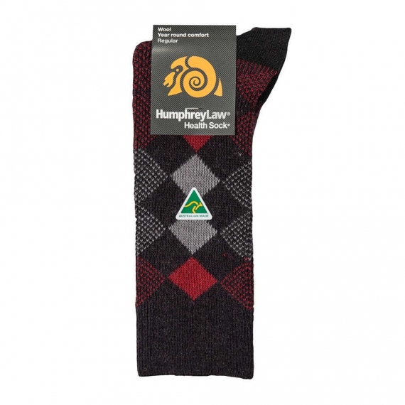 95% Wool Jacquard Patterned Men's Health Sock