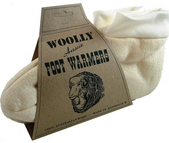 Woolly Foot Warmers Sheepskin Cream