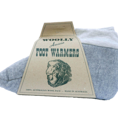 Woolly Foot Warmers Sheepskin Grey