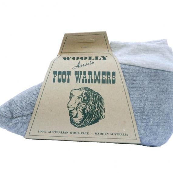 Woolly Foot Warmers Sheepskin Grey