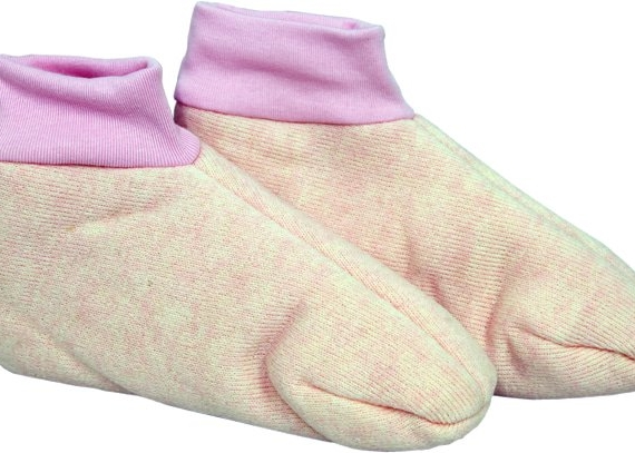 Woolly Foot Warmers Sheepskin Pink