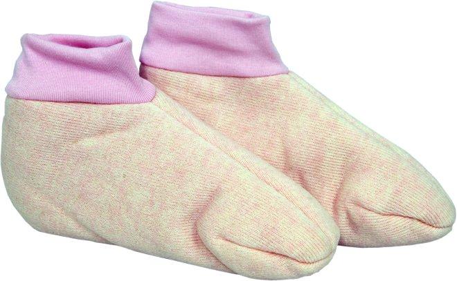 Woolly Foot Warmers Sheepskin Pink