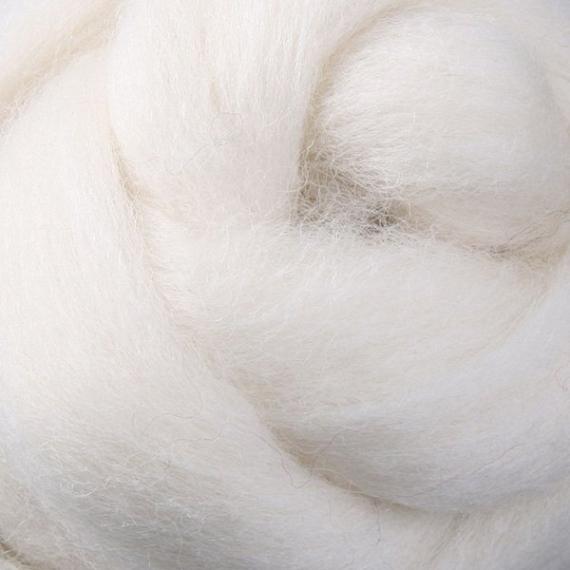 Corriedale Wool Roving 1KG - White