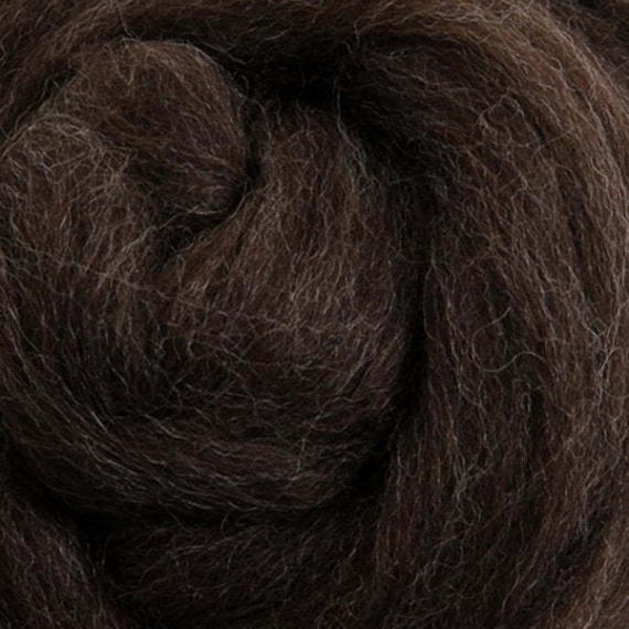 Ashford Merino Roving 22 Micron 1KG - Natural Dark