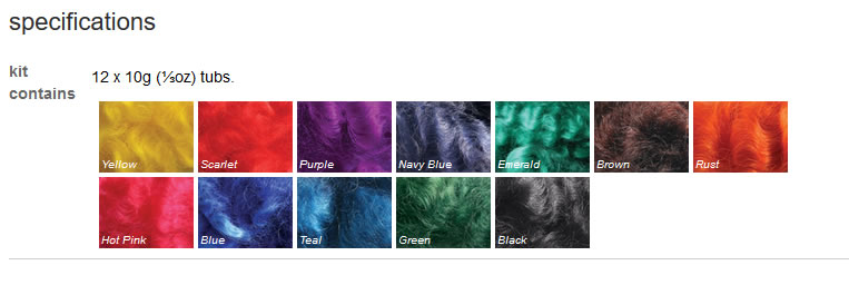 Ashford Dye Collection 12 pack